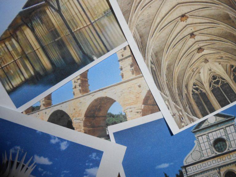 Quelques images de bâtiment architecturaux à insérer dans la frise. Observer les différentes techniques de constructions employées, les matériaux, les formes, les ressemblances, en tirer quelques conclusions.