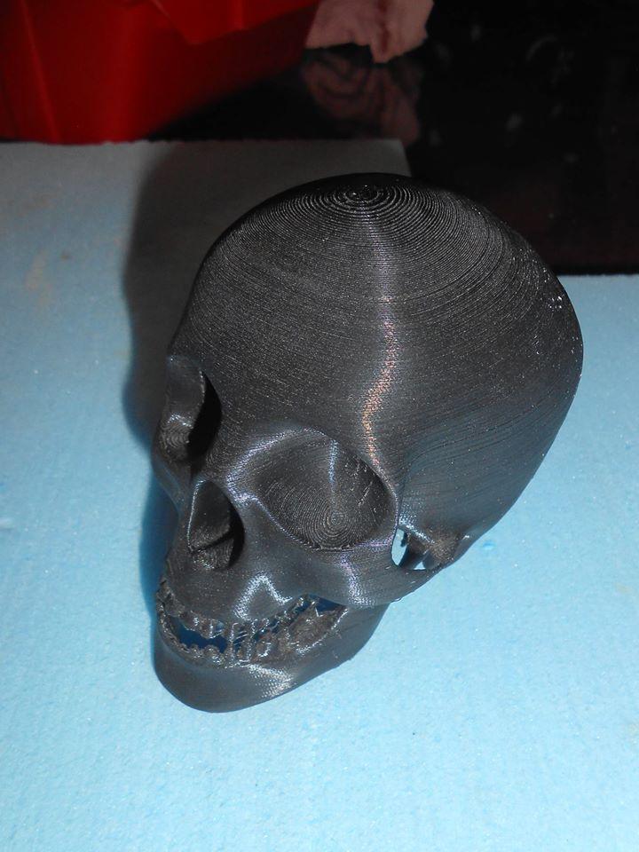 Ah un crâne imprimé en 3D! ça nous rappelle les vanités faites par les garçons il y a quelques années avec le projet nature morte.
